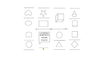 Figuras Geometricas 2D & 3D One Page Stapleless Booklet (SPATH Spanish+Math)
