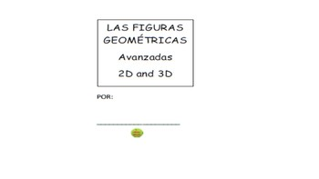 Figuras Geometricas 2D & 3D One Page Stapleless Booklet (S