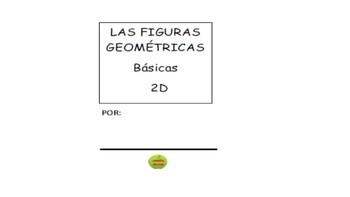 Figuras Geometricas 2D One Page Stapleless Booklet (SPATH Spanish+Math)