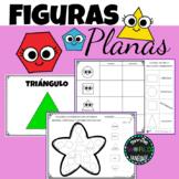 Figuras Planas Fichas Infantil 2d Shapes Booklet Work Spanish Español