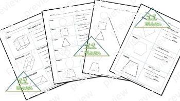 2D & 3D Shapes worksheets (Spanish)