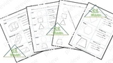 2D & 3D Shapes worksheets (Spanish)