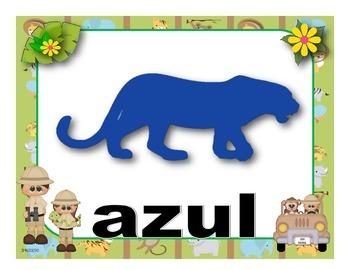 Figuras geométricas  y Colores - motivo Safari