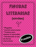 Figuras literarias  - el símil ( Literary Devices in Spanish - Similes Freebie )