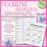 Figurative Devices Worksheets, Figurative Language, Songs, Google Ready