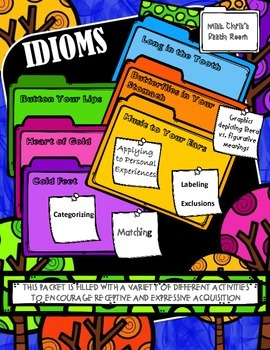 Figurative FUN *IDIOMS* {Lessons and Activities} for 6 Fig
