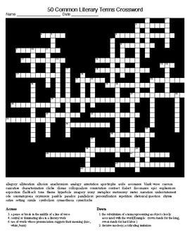 Figurative Langliterary Terms 50 Crossword 50 Word Search Keys
