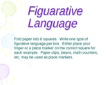 Figurative Langauge Game (Assessment)- match examples to their term