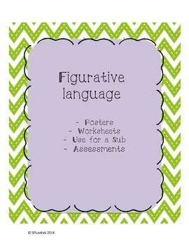 Figurative Language Posters, Worksheets, and Assessment