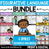 Figurative Language Bundle -Simile,Metaphor, Hyperbole, Personification & Idiom