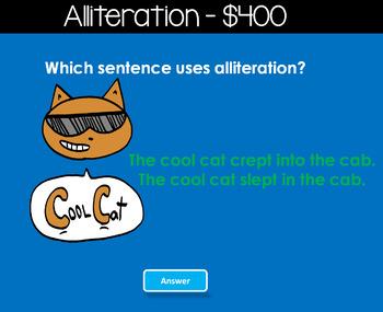 Figurative Language Jeopardy Style Game Show