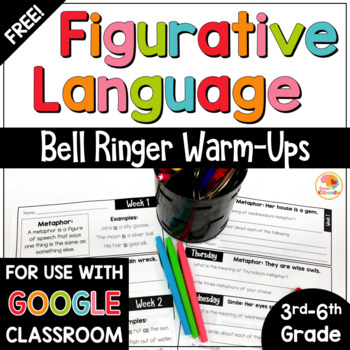 Figurative Language Warm Up Free Similes And Metaphors By