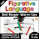 Figurative Language Distance Learning | FREE Figurative Language Bell Ringers