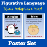 Figurative Language Posters   1st 2nd 3rd 4th 5th Grade  