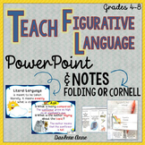 FIGURATIVE LANGUAGE POWERPOINT AND GUIDED NOTES: CORNELL AND FOLDING INTERACTIVE