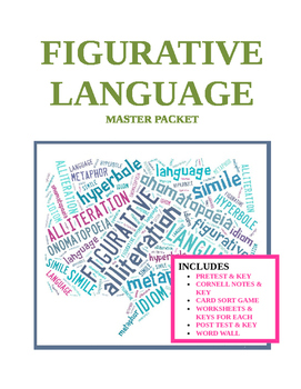Figurative Language ~ 20-page Master Packet with KEYS (COM