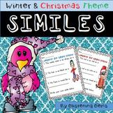 Winter Figurative Language   Similes Worksheets   Winter Literacy Activity