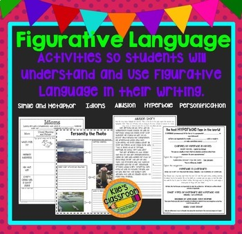 Figurative Language Guided Interactive Notes and Student Activities Bundle