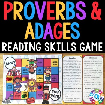 Proverbs and Adages Task Cards Game {Figurative Language Activity}