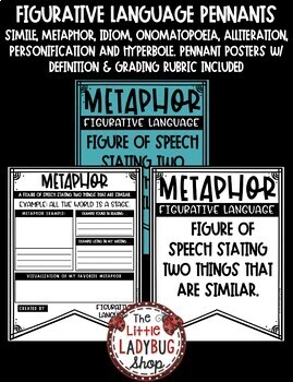 Figurative Language Activity Writing Posters • Teach- Go Pennants™