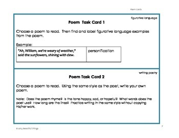 Poem and Task Cards