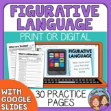 Figurative Language Printable or Google Classroom Distance
