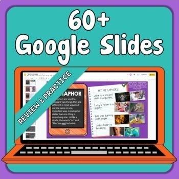 Figurative Language Worksheets and Google Slides for Distance Learning
