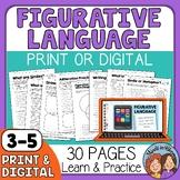 Figurative Language Worksheets and Google Slides for Dista