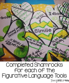 Figurative Language Shamrock Craftivity