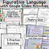 Figurative Language Poetry Unit Interactive Notebook Video Lesson Google Slides