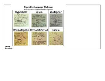 Figurative Language 5 Day Lesson Plan