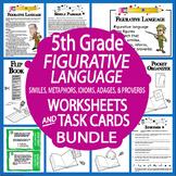 Figurative Language Lesson + 2 Figurative Language Worksheets, Story Writing
