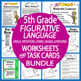 Figurative Language Worksheets & Task Cards – Similes, Metaphors, Idioms, MORE