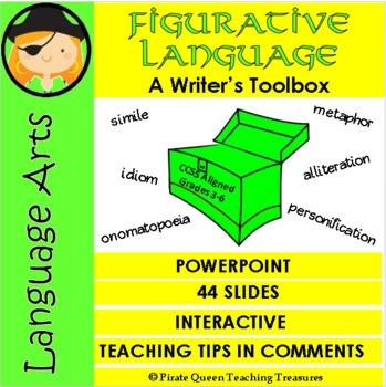 Figurative Language—A Writer's Toolbox PPT/CCSS Aligned 3-6