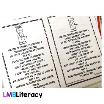 Figurative Language Activities, Simile Poems with Poetry Comprehension