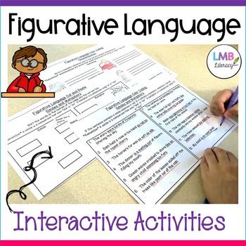Figurative Language Activities-Color Coding and Cut & Paste