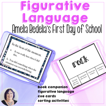 Figurative Language Activities for the book Amelia Bedelias First Day of School
