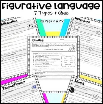 Figurative Language Activities ~ simile, metaphor, idiom, hyperbole +