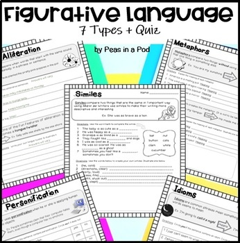 Figurative Language Worksheets 4th 5th 6th