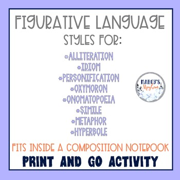 Figurative Language Activity Flip Book - Vocabulary Worksheets
