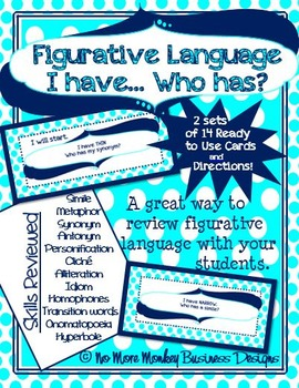 Figurative Language Activity: I Have...Who Has?