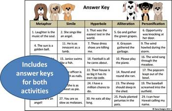Figurative Language Activity Mats (with cut-and-paste activity)