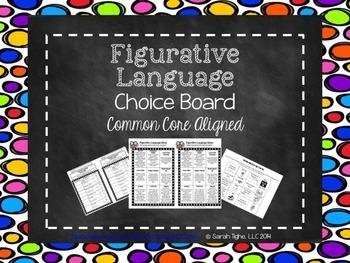 Figurative Language Choice Board (Common Core Aligned)
