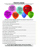Figurative Language Activity Sheet