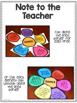 Figurative Language Activity {Spring Themed: Build a Flower}