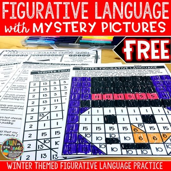 Figurative Language Activity with Mystery Grid Picture: Winter Themed [FREE]