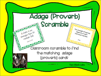 Figurative Language: Adages/Proverbs Classroom Scramble