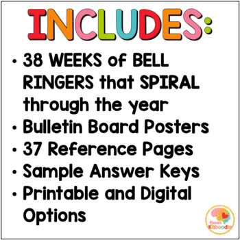 Figurative Language Activities: Bell Ringers Warms-Ups