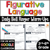 Figurative Language Bell Ringers: Warm-Up Activities