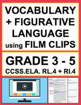 Figurative Language, Allusion & Vocab using VIDEO: NO PREP Lesson: RL.4 & RI.4